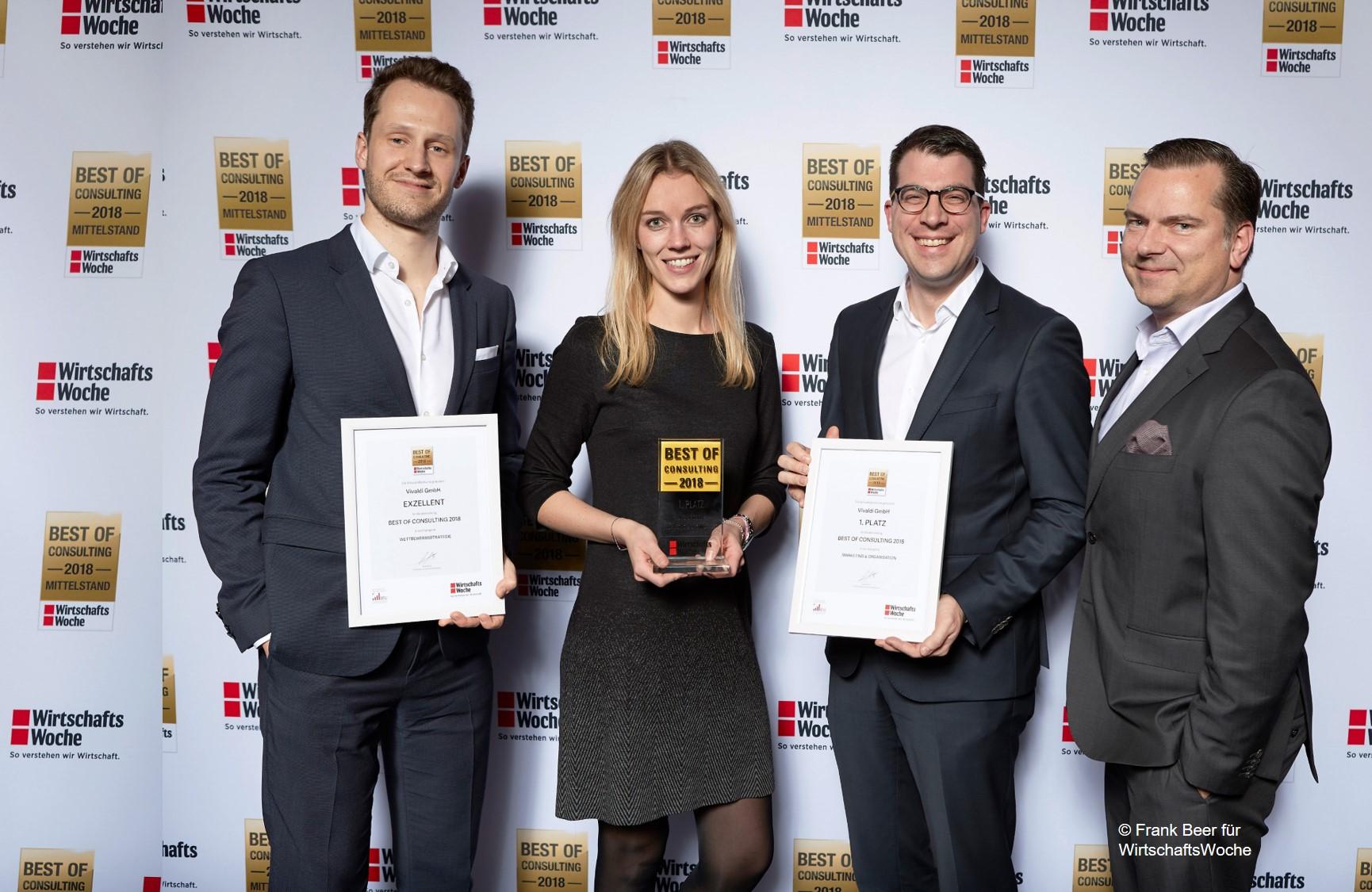 Best of Consulting 2018 – Zweifache Auszeichnung der WirtschaftsWoche für Vivaldi